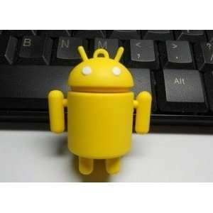 4GB Cool Android Style USB flash drive(Yellow)