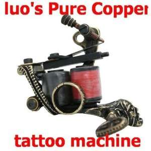 Custom Handmade Cuprum Brass Tattoo Machine Gun NEW PRO