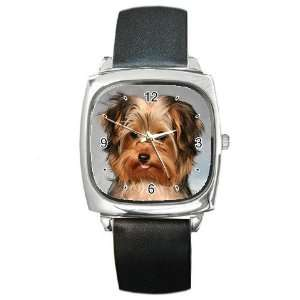 Yorkshire Terrier Puppy Dog 10 Square Metal Watch FF0656