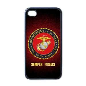 New iPhone 4 Case Cover Black usmc marine corps