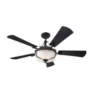 Sea Gull Lighting 15085B 839 59th Street 3 Light Indoor Ceiling Fans