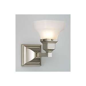 Birmingham 1 Light Sconce   Polished Brass Finish/Square Glass