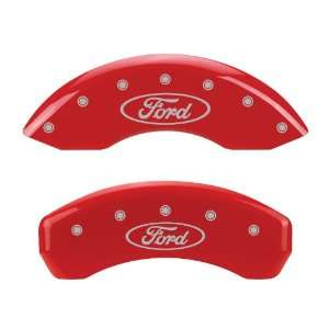 MGP Caliper Covers   Ford F150 2009   Ford Licensed   Red