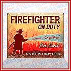 firefighter on duty sign rescue real heroes in helmet gift
