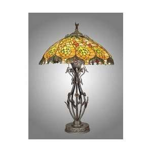Dale Tiffany Wrought Iron Table Lamp (Antique Brass Finish) (29H x 18