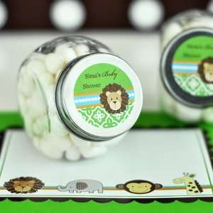 Personalized Jungle Safari Baby Shower Mini Candy Jar
