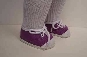 PURPLE Tennis Sneakers Doll Shoes FOR American Girl♥