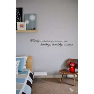 man healthy, wealthy, and wise Vinyl wall art Inspirational quotes