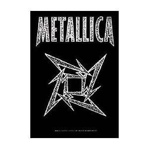 Metallica Ninja Star Cloth Textile Fabric Poster Flag