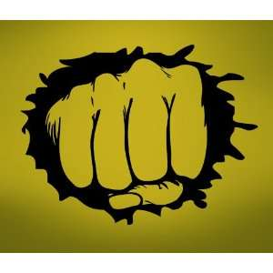 Vinyl Wall Art Decal Sticker Hand Punching Through the Wall Punch Out