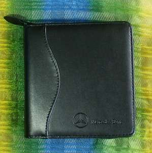 NEW Original MERCEDES BENZ CD DVD Black Leather Zip Case   Holds 18
