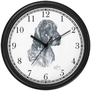 English Setter Dog (MS) Wall Clock by WatchBuddy Timepieces (Hunter