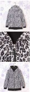 Winter His and hers Clothing Leopard Print Faux Fur Plush Coat Jacket