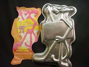 Wilton BIG PINK PANTHER cake pan MOVIE CARTOON KITTY CAT bake mold tin