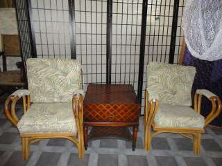 Vintage Bamboo Chair Chairs White Craft Miami Florida