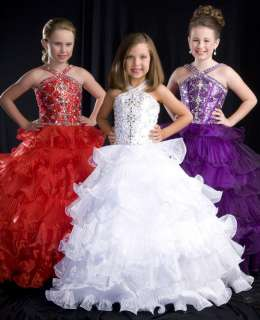 Sugar 81104S Purple Girls Pageant Gown Dress 8