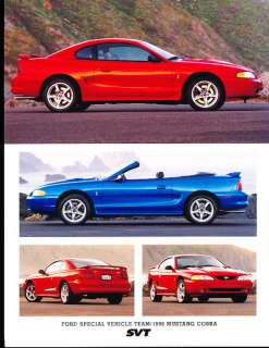 1998 Ford Mustang SVT Cobra Sales Brochure Sheet