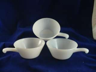 Set of 3 White Anchor Hocking Fire King USA oven ware