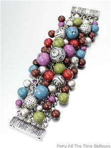 MIXED BEADS FASHION BRACELET You Choose your COLOR MAGNETIC CLOSURE
