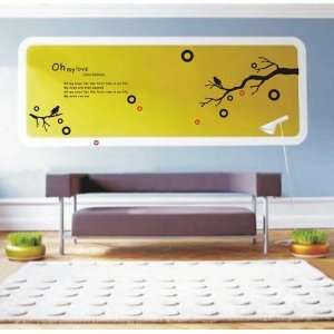 Easy instant decoration wall sticker  oh my love
