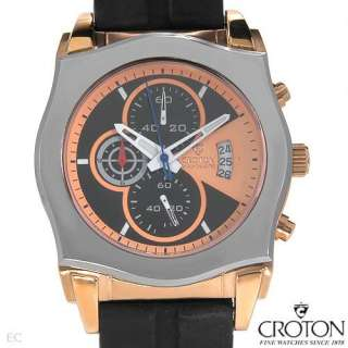 Brand New CROTON CC311238BSGR Tungsten Mens Chronograph Watch Length
