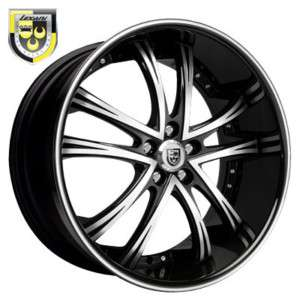 24 Lexani Wheels LSS 55 Black Rim Tires Lexus GL 500