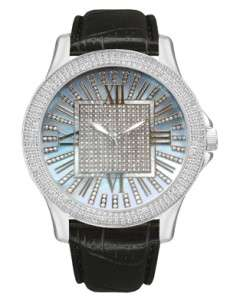 DIAMOND WATCH GRAND MASTER 0.12CT METAL CASE LEATHER BAND JOJINO RODEO