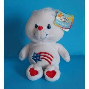 Care Bears AMERICA CARES Bear 8 Plush (NEW WITH TAGS