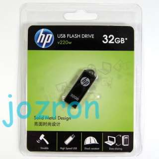 HP v220w 32GB 32G USB Flash Pen Drive Memory Disk Metal