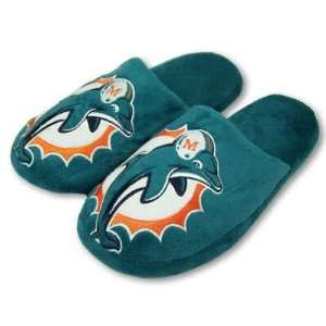 MIAMI DOLPHINS OFFICIAL LOGO PLUSH SLIPPERS SZ XL Sports