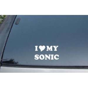 I Love My Sonic Vinyl Decal Stickers