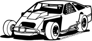mod / IMCA Modified Race Car Vinyl Graphic Decal
