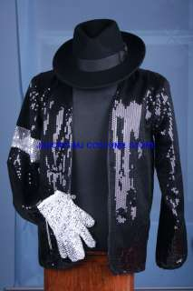 SALE MICHAEL JACKSON BILLIE JEAN JACEKT&GLOVE&HAT SET