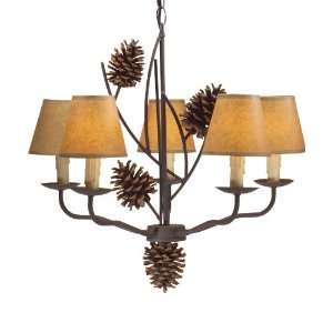Woolrich Pine Creek Chandelier, COLOR AS SHOWN (Black