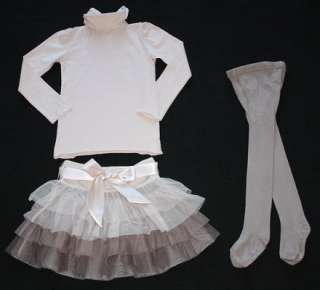 STELLA MCCARTNEY Baby Gap Kids Tutu Tiered Skirt Turtleneck Tights S 5