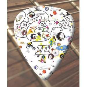 Led Zeppelin 3 Premium Guitar Picks x 5 Medium Musical
