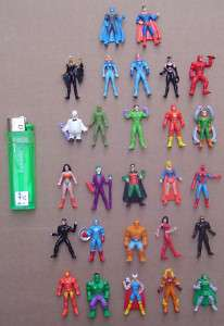 SUPER HEROES 27 MINI FIGURES SET MARVEL & DC ARGENTINA
