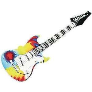 Tye Dye Guitar Inflatable Blow up 42 Inches Toys & Games