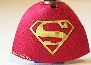 LEGO SUPERMAN SUPER HEROES CUSTOM RED CAPE ONLY YELLOW LOGO NO MINI