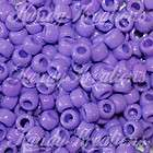 100 Light Purple Pony beads kandi RAVER 6x9mm Plastic 4 Rave Bracelets