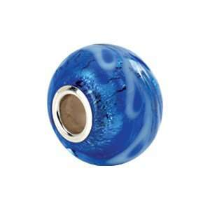 Kera Sterling Silver & Blue Murano Glass Bead Kera Beads
