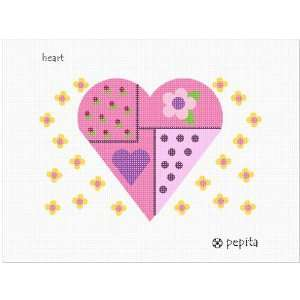 Heart Needlepoint Canvas Arts, Crafts & Sewing