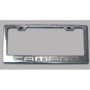 Chevy Camaro Chrome License Plate Frame