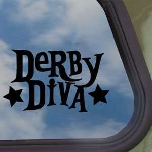 Derby Diva Black Decal Truck Bumper Window Vinyl Sticker