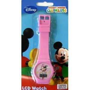 Disney Mickey Mouse Pink Lcd Watch Baby