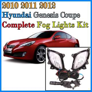 2010 2011 2012 Hyundai Genesis Coupe Fog lights / Lamp complete full