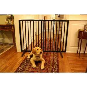 Extra Tall Freestanding Pet Gate Black 27.5 inch   51 inch