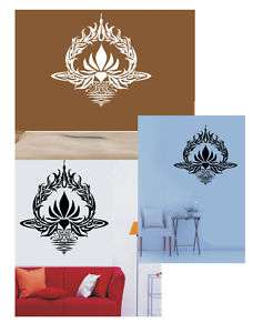 YOGA LOTUS FLOWER ZEN DESIGN WALL DECAL STICKER NAMASTÉ