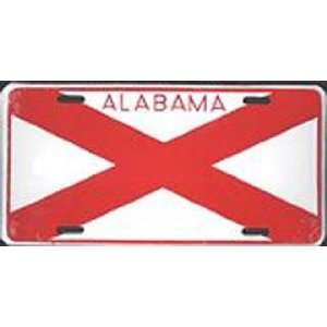 Flag Embossed Metal License Plate Auto Car Tag