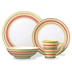 Dansk Tropical Swirls Lemon Zest 4 Piece Place Setting